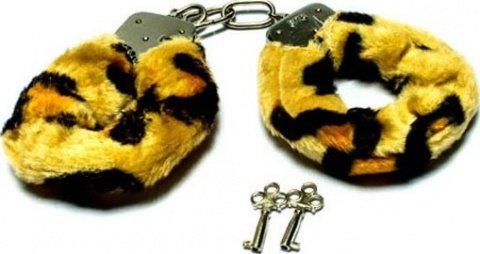 Наручники с мехом, тигровые