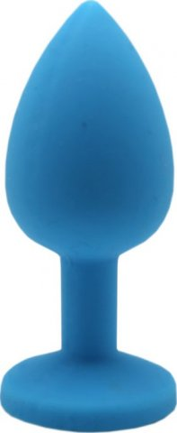Малая пробка с синим кристаллом, голубая, 30 х73 мм, фото 2