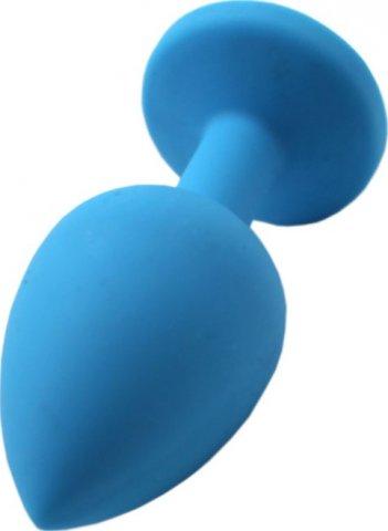 Малая пробка с синим кристаллом, голубая, 30 х73 мм, фото 3
