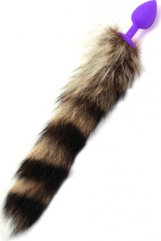 Малая пробка с пушистым хвостом, фиолетовая, 30 х73 мм, фото 2