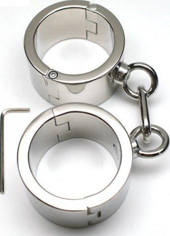 Наручники женские, металлические, диаметр 54 мм, фото 3
