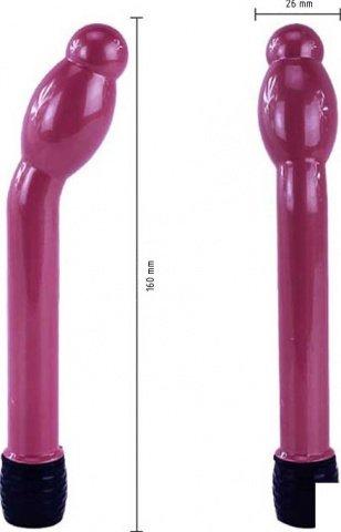Вибратор Boy Friend анально-вагинальный, с утолщением, розовый, 16-25 х158 мм, фото 4