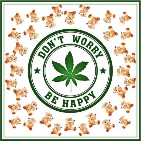 Платок Don`t Worry Be Happy, шармус, 60 х60 см