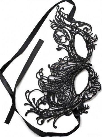 Маска кружево, черная, фото 3