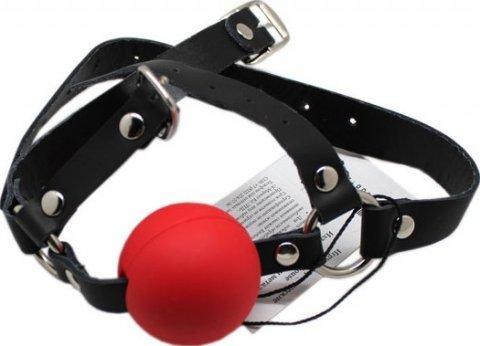 Кляп с поддержкой подбородка, красный,, фото 2