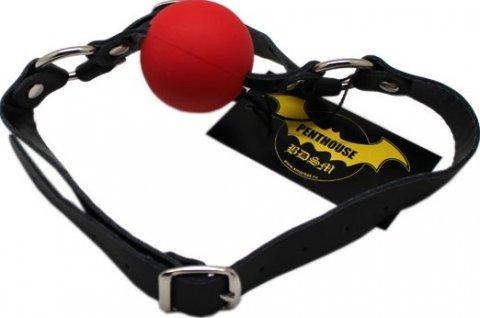 Кляп с поддержкой подбородка, красный,, фото 3