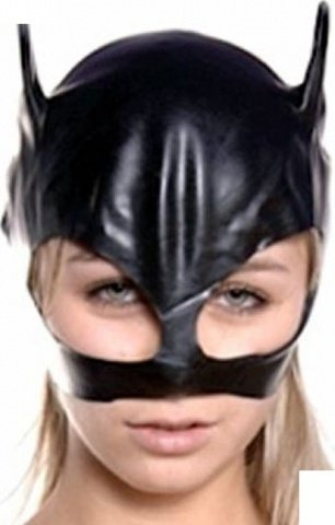 Шлем-маска женская, черная