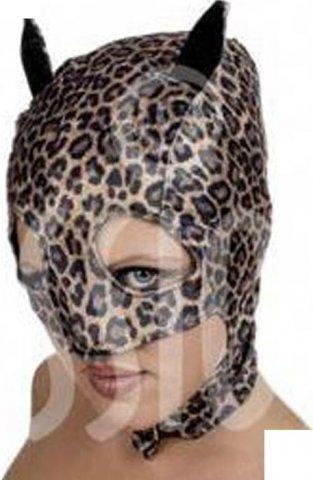 Шлем-маска, женская, текстиль, леопардовая, 1