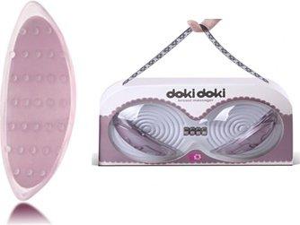 Вибромассажер-вставки в бюстгалтер Доки-Доки, для стимуляции груди, сосков (розовый), фото 3
