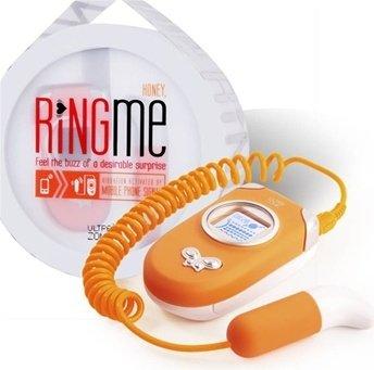 Вибропуля `ring me`, работающая от мобильного телефона (цвет-оранжевый)