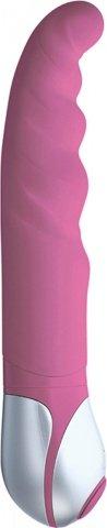 Силиконовый вибратор розовый euphoria 23 см, фото 3