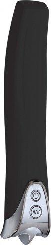 Вибратор многопр. водонепр. черный силикон 17 см