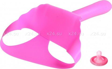Фаллос поясной силикон 16,5 см розовый, фото 3