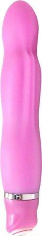 Вибратор роз. 13 см силикон многопрогр