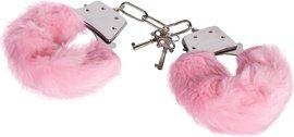 Наручники розовые плюшевые Luv-Bonds, фото 3