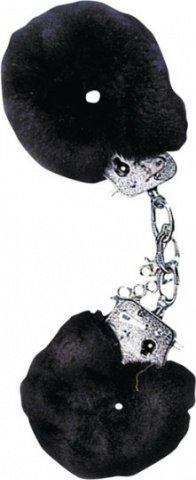 Наручники с чёрным мехом (стар. арт. 9629blk-bx), фото 2