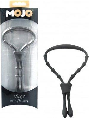Кольцо эрекционное тип лассо Mojo Vigor, черн, фото 3