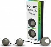 Вагинальные шарики металлические, хромированные черные.