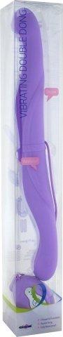 Вибромассажер двухголовый фиолетовый, фото 2