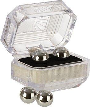 Вагинальные шарики утяжеленные маленькие без сцепки серебристые, фото 2