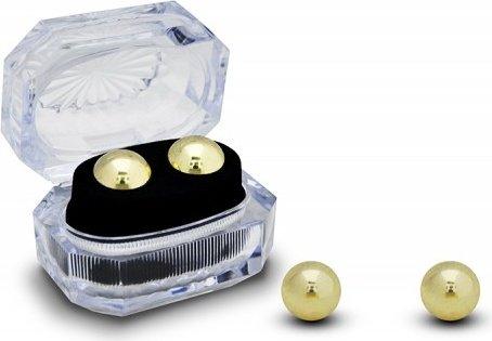 Вагинальные шарики утяжеленные маленькие без сцепки золотистые, фото 3
