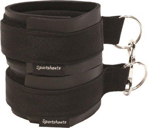 Манжеты на запястья черные (2 шт.) sports cuffs - black