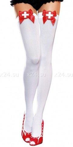 Чулки Doctor, белые, размер универсальный