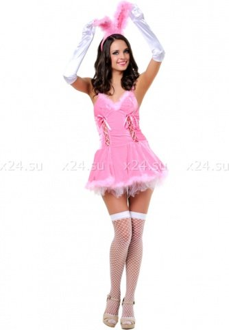 Розовый костюм зайки (Le Frivole), размер S/M