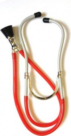 Стетоскоп медицинский красный