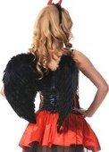 Купить ангелочки и чертики. Крылья перьевые, закругленные, черные, 60 х50 см. Лучший сексшоп.