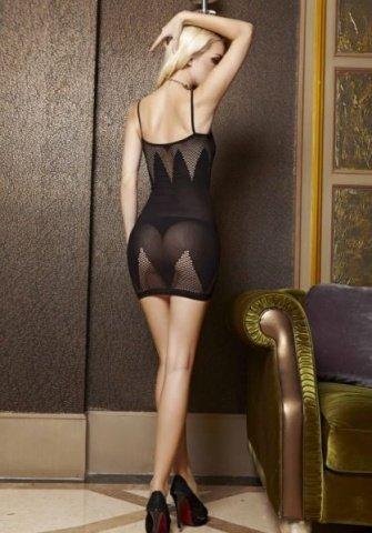 Платье с пикантными зонами в сеточку (One size) 03527OS, фото 2