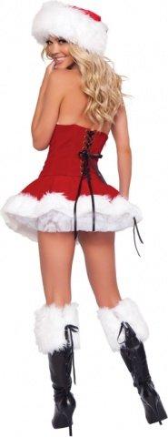 Костюм новогодняя кокетка (красный) разм, фото 2