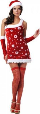 Новогодний костюм снегурочки, разм, фото 3