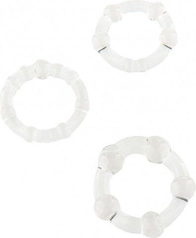 Три эрекционных кольца разного диаметра stay hard clear 4358