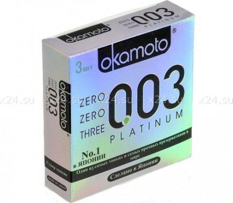 Презервативы Окамото 003 Platinum Супер тонкие 3/24
