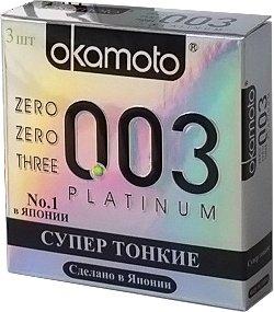 Презервативы Окамото 003 Platinum Супер тонкие 3/24, фото 3
