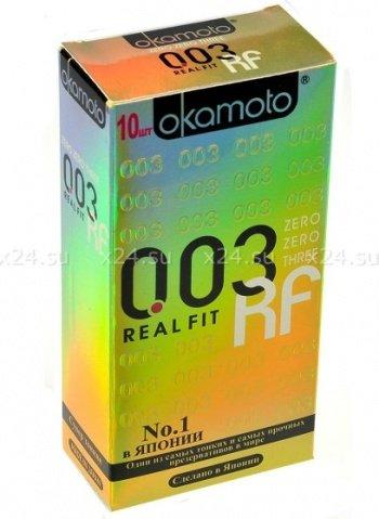 Презервативы Окамото 003 Real Fit Супер тонкие особой облегающей формы 10/12