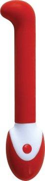 Вибромассажер `g-spot` серии impressions силикон, 5 режимов вибрации (красный), фото 3