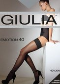 Чулки белые emotion с кружевом на силиконовой ленте 1/2 (40 den) - Секс-шоп Мир Оргазма