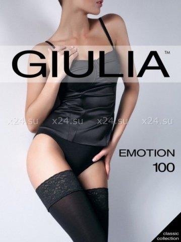 Чулки emotion непрозрачные на силиконовой ажурной резинке 100 den 3/4 ( )
