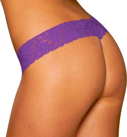 Кружевные трусики-тонг Фиолетовые, фото 2