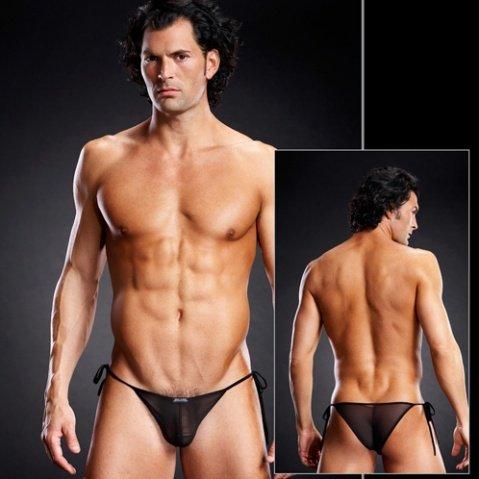Черные мужские side-tie бикини