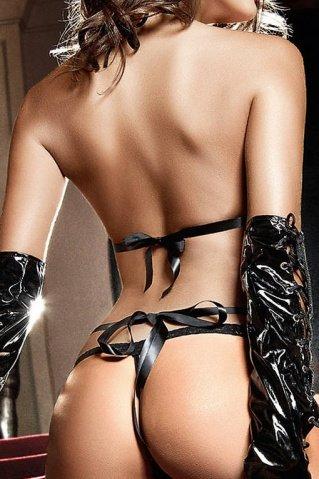 Костюм немецкая горничная: монокини черный, фото 4