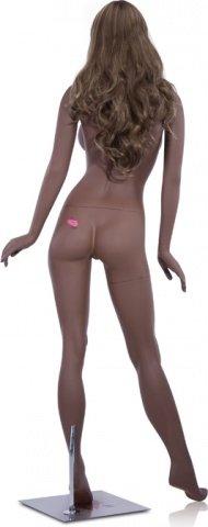 Манекен-девушка мулатка в полный рост sugar размер груди d, руки по бокам, фото 3