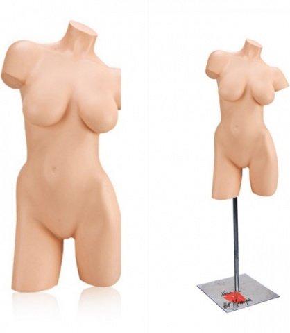 Манекен девушка, торс на металлической подставке (правый)