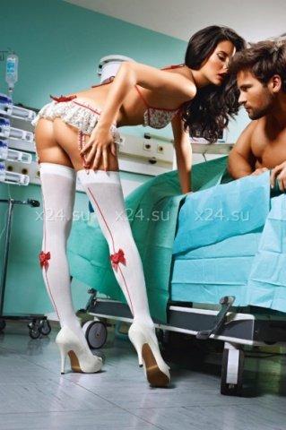 Чулки Emergency Room Nurse высокие белые ( )