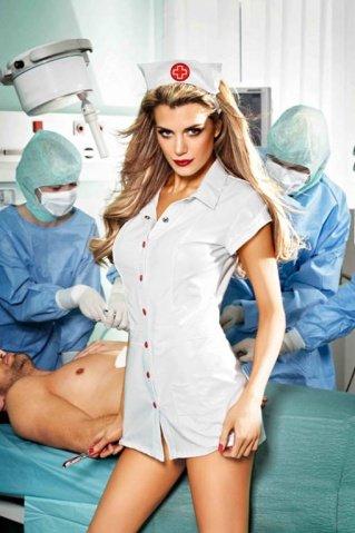 Игровой костюм старшая медсестра: мини-платье и головной убор, фото 3