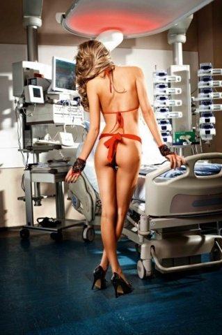 Костюм медсестры (бюстгальтер, трусы, фартук, перчатки), фото 4