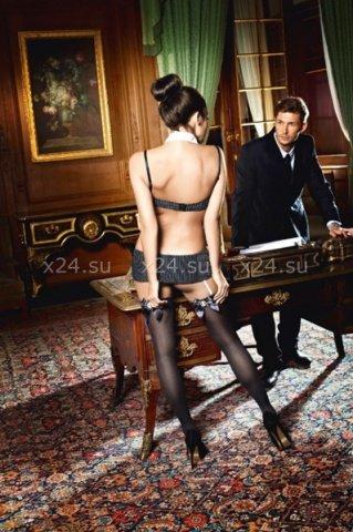 Чулки Sexy Secretary высокие черные ( ), фото 2