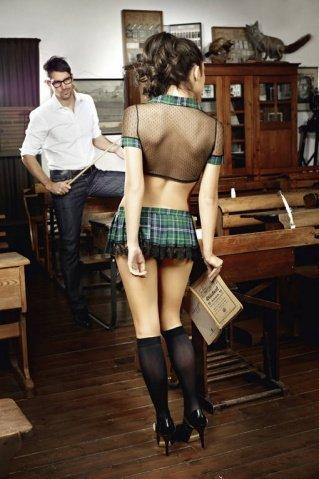 Игровой костюм дерзская ученица: топ, мини-юбка, фото 2